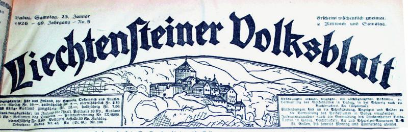 Zeitungskopf. Entwurf von Josef Malin, 1923