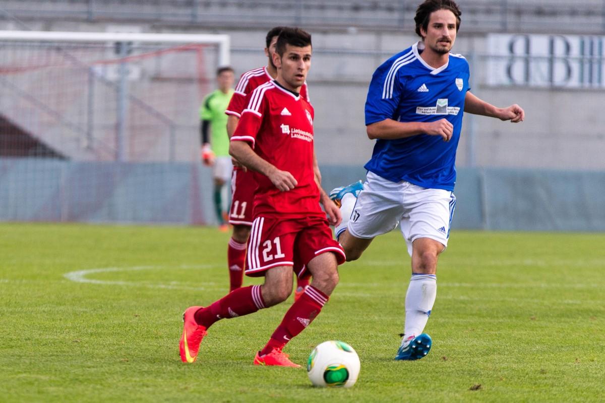 Der FC Vaduz II musste gegen Aufsteiger Au/Berneck eine 0:1-Heimniderlage einstecken. Bild: Jürgen Posch.