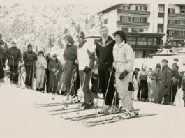 MALBUN 1983 Royaler Skiausflug: Erbprinz Hans- Adam und Erbprinzessin Marie besuchten im Januar 1983 gemeinsam mit Prinz Charles und Lady Diana aus Grossbritannien Malbun. Quelle: Medienhaus AG Vaduz/Amt für Kultur-Landesarchiv